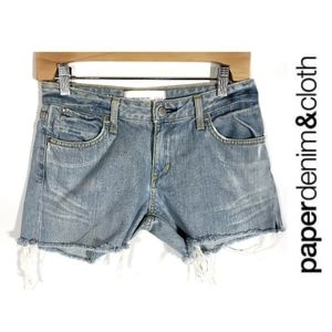 BOGO Paper Denim & Cloth Destroyed Cut Off Shorts